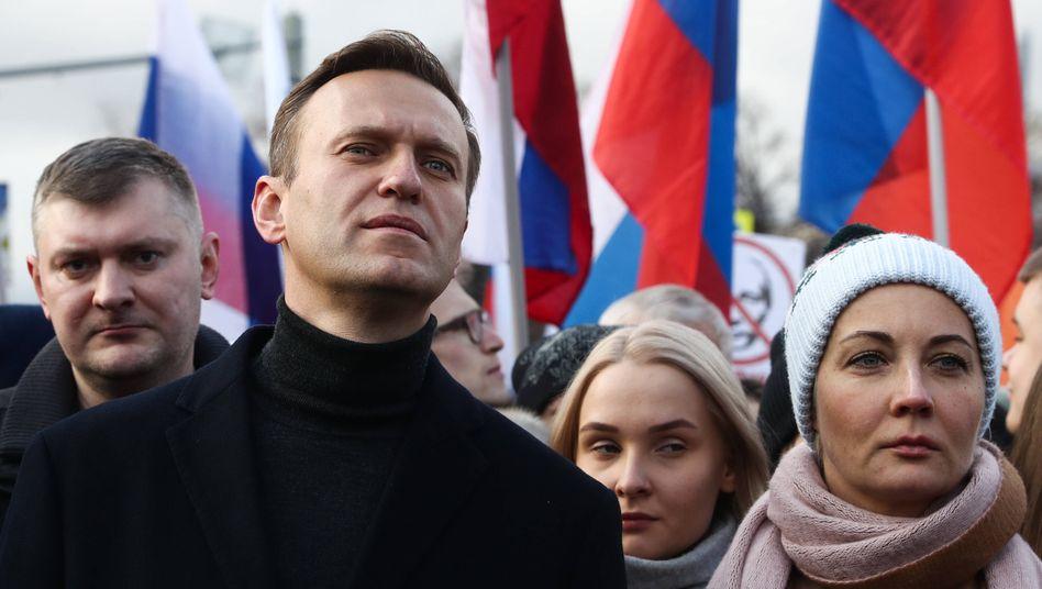 Oppositionspolitiker Nawalny im Februar 2020: Befunde weisen auf eine Intoxikation hin