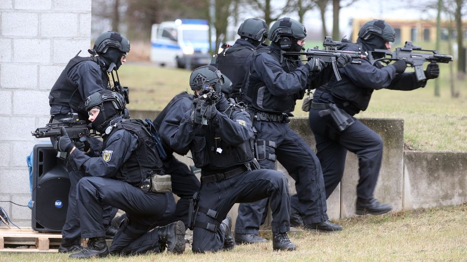 Spezialeinheit der Bundespolizei (bei einer Übung)