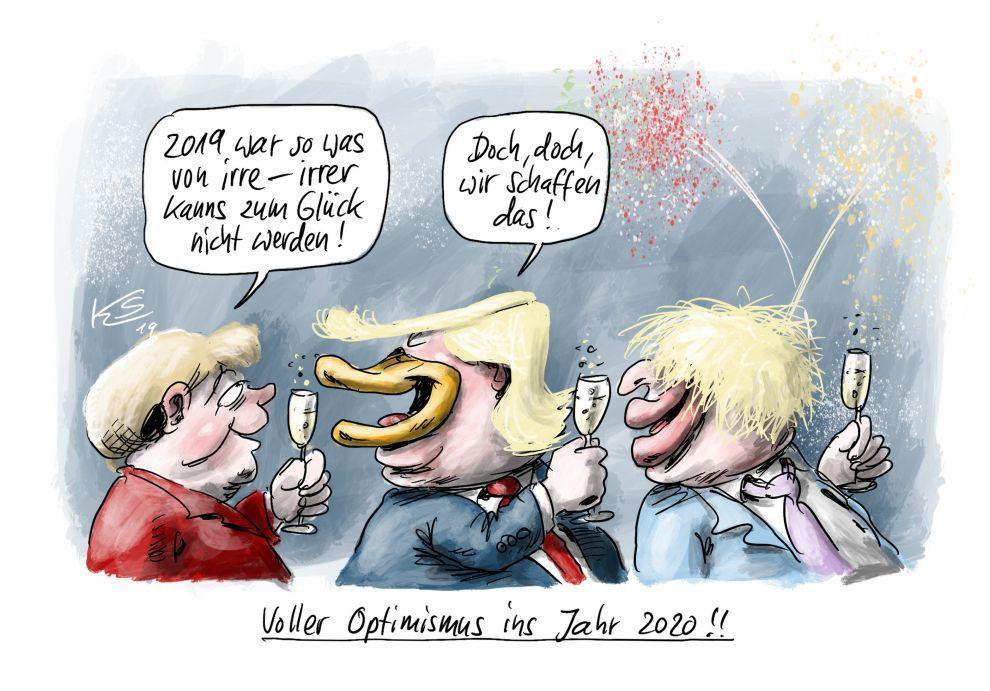 EINMALIGE VERWENDUNG cartoon/ 31.12.2019