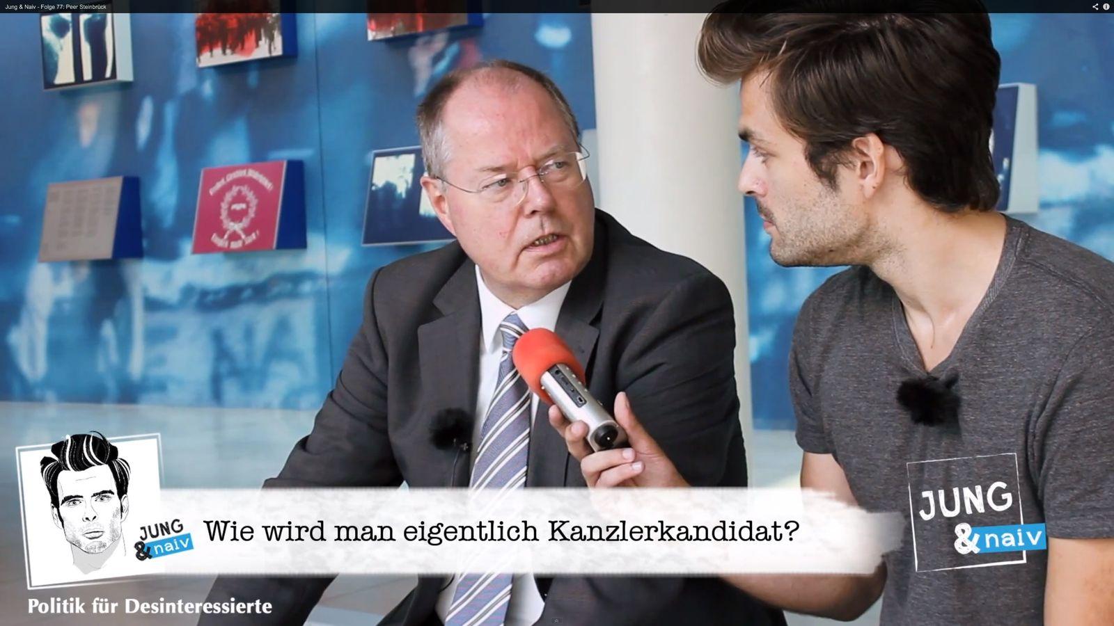 NUR ALS ZITAT Screenshot Jung & Naiv / Steinbrück