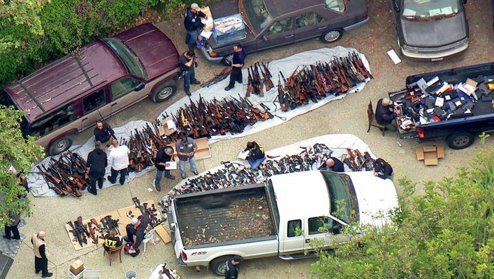 """Waffenfund in L.A.: """"Das ist ein großes Versteck"""""""