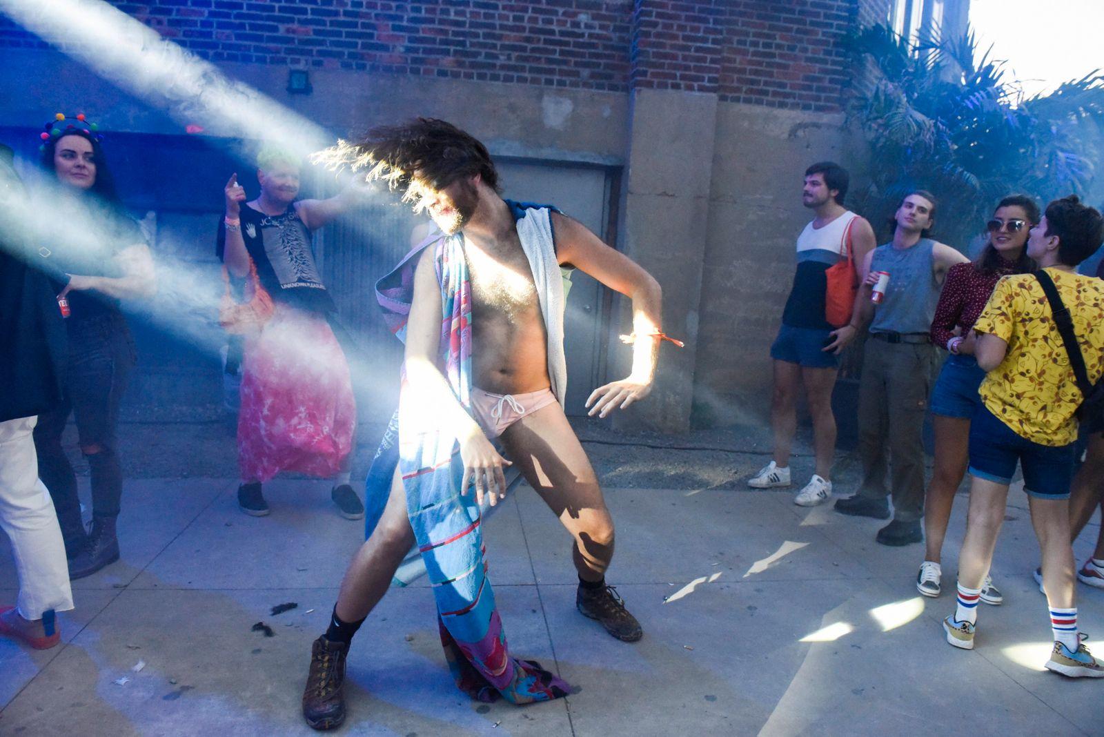 "Revelers attend drag extravaganza ""Bushwig"" in New York"
