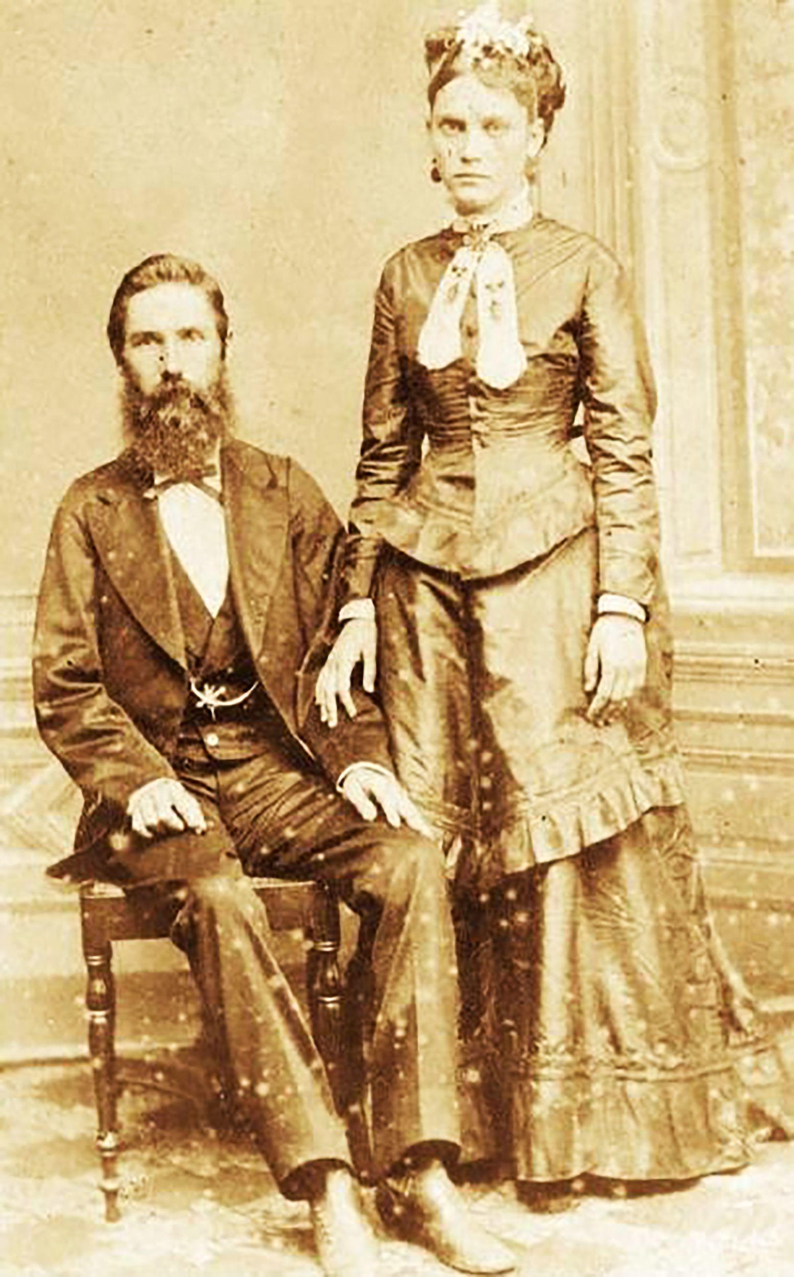 Joseph Whitaker und Isabel Norris