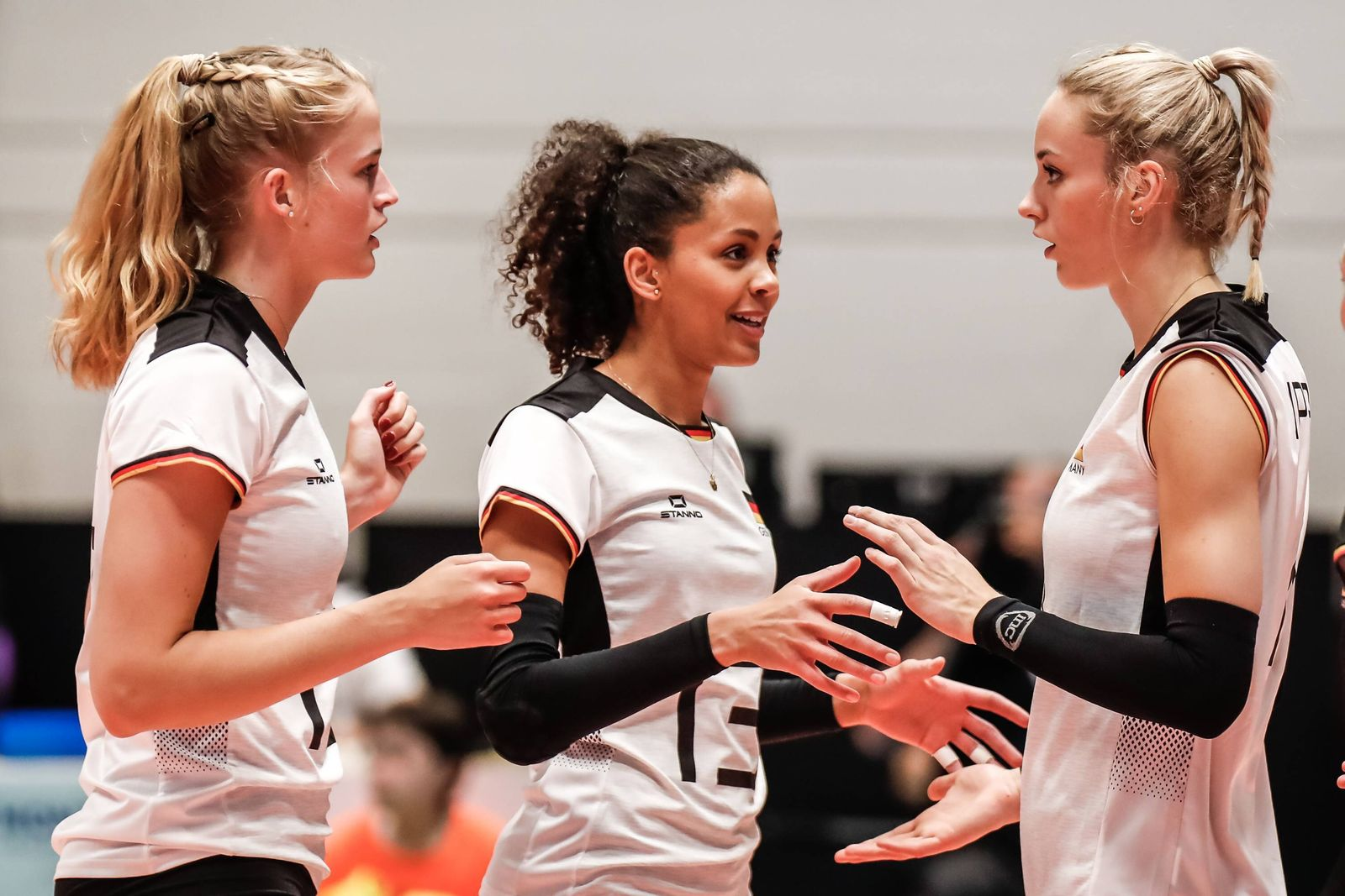 Montreux Volley Masters Germany vs Poland 2019 Hanna Orthmann Germany 12 Denise Imoudu Germany
