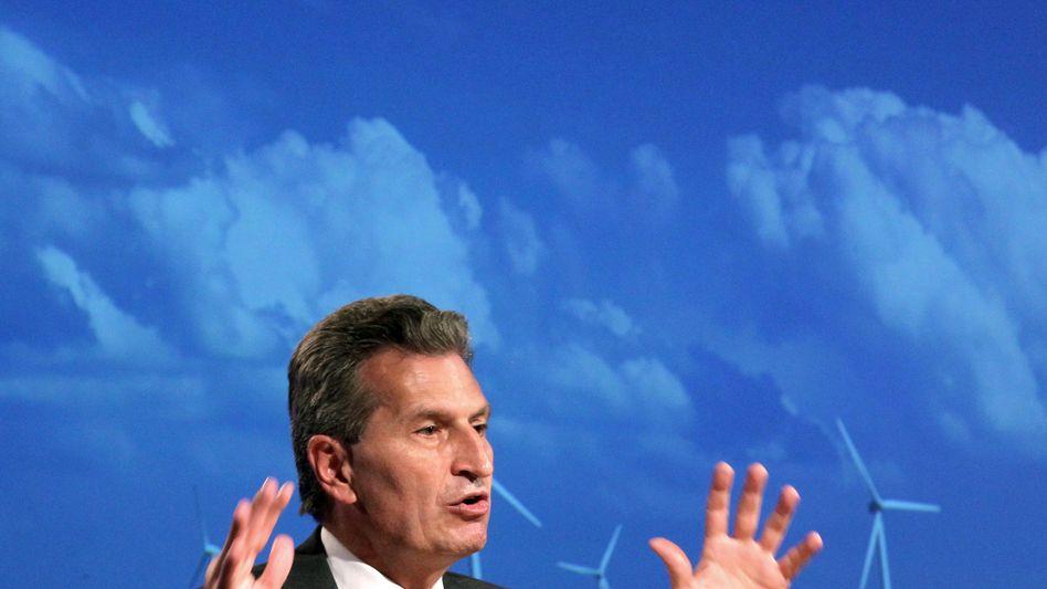 EU-Energiekommissar Günther Oettinger: Keine gesicherten Zahlen vorhanden?