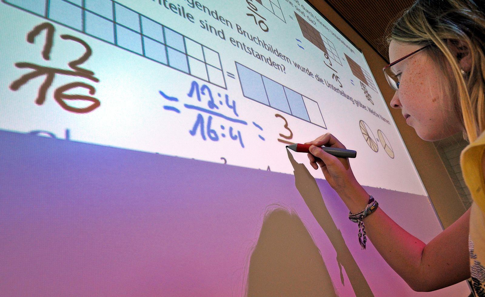 EINMALIGE VERWENDUNG Lernen mit Whiteboards / Schule