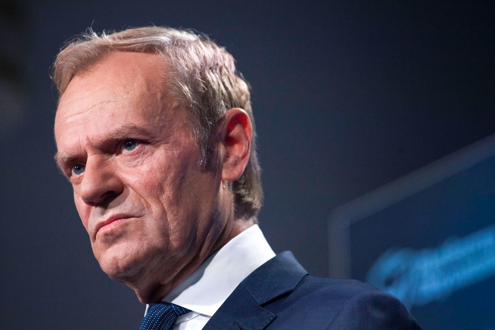 Conference Of Donald Tusk In Warsaw President of the European Peoples Party Donald Tusk seen in Warsaw on July 4, 2021.