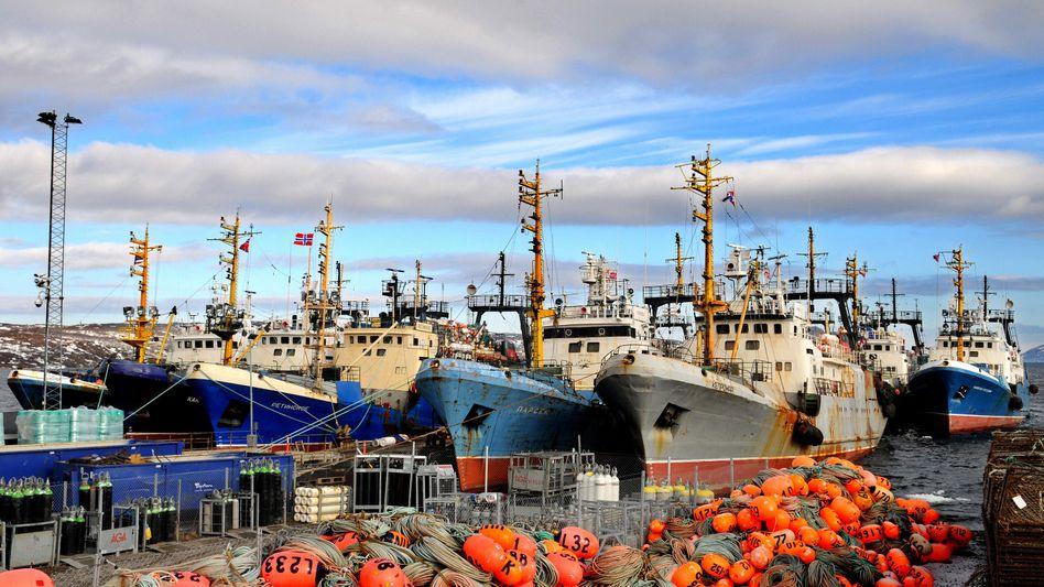 Norwegischer Arktis-Hafen Kirkenes