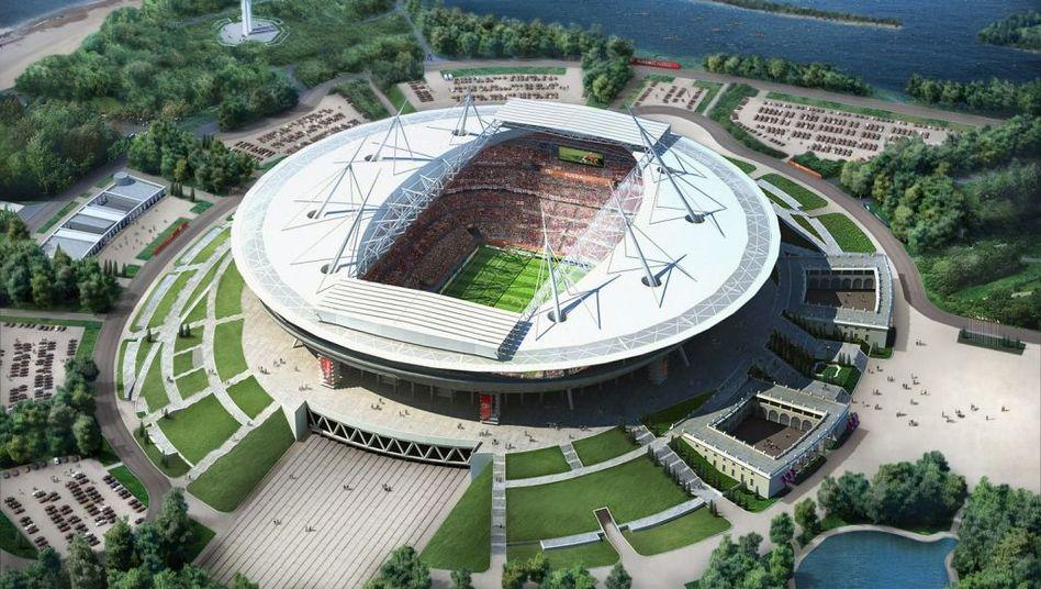 WM-Stadion in St. Petersburg: Kürzungen in Millionenhöhe