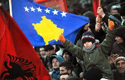 Kosovars spent Sunday night partying to celebrate independence.
