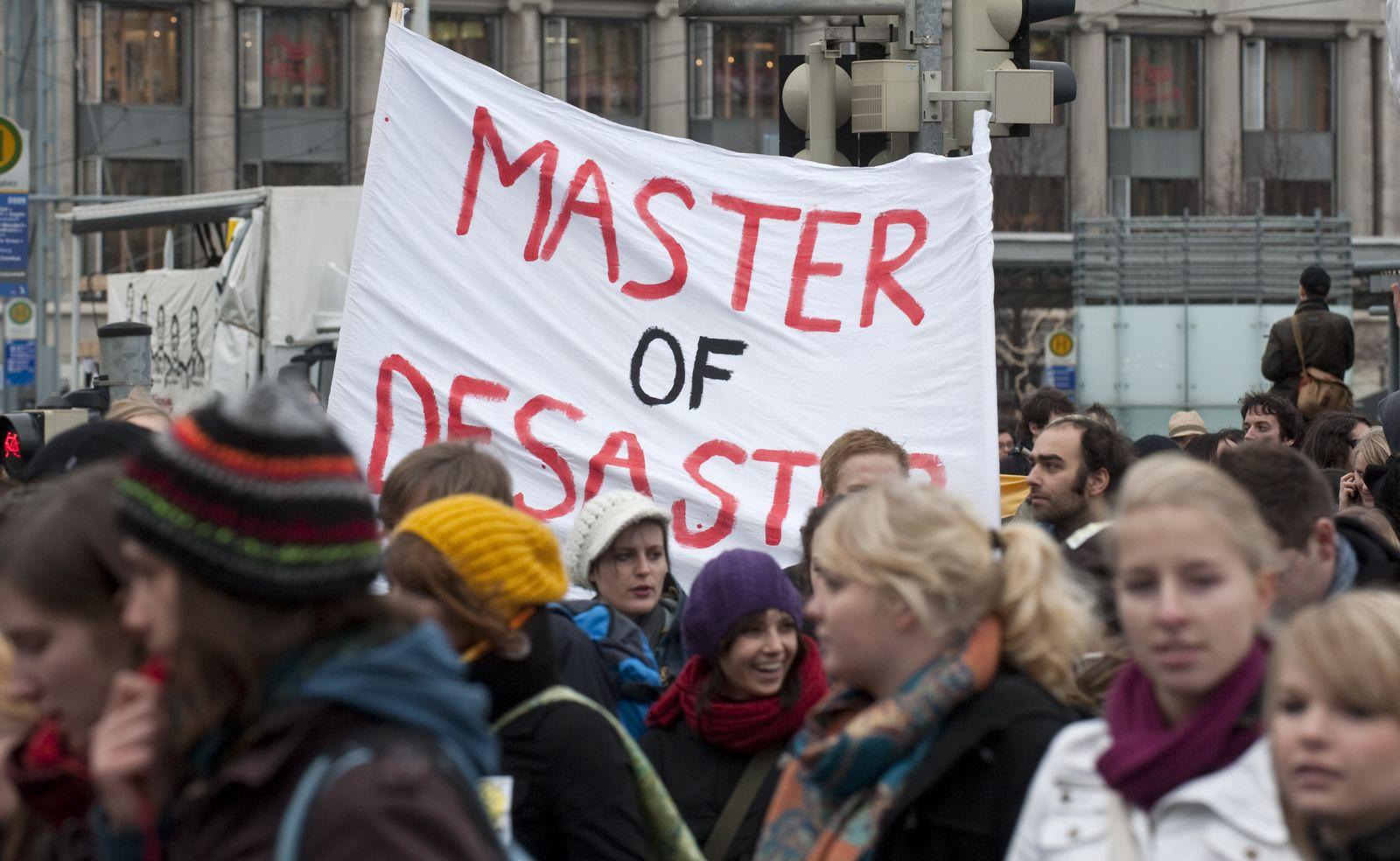 Protest / Demonstration / Studenten / Leipzig