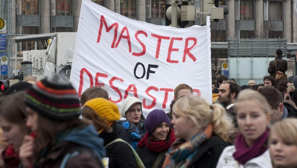 Protestierende Studenten (in Leipzig): In sechs Semestern zum Abschluss getrieben