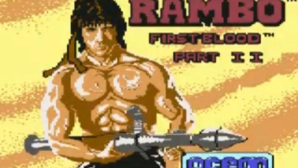 """""""Rambo""""-Videospiel (Screenshot der C64-Version): Nur eines von 11.000 Sammlerstücken"""