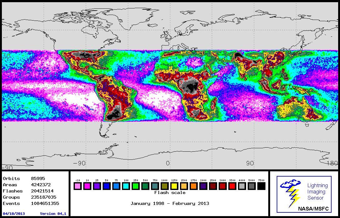 Blitze/ Globale Karte