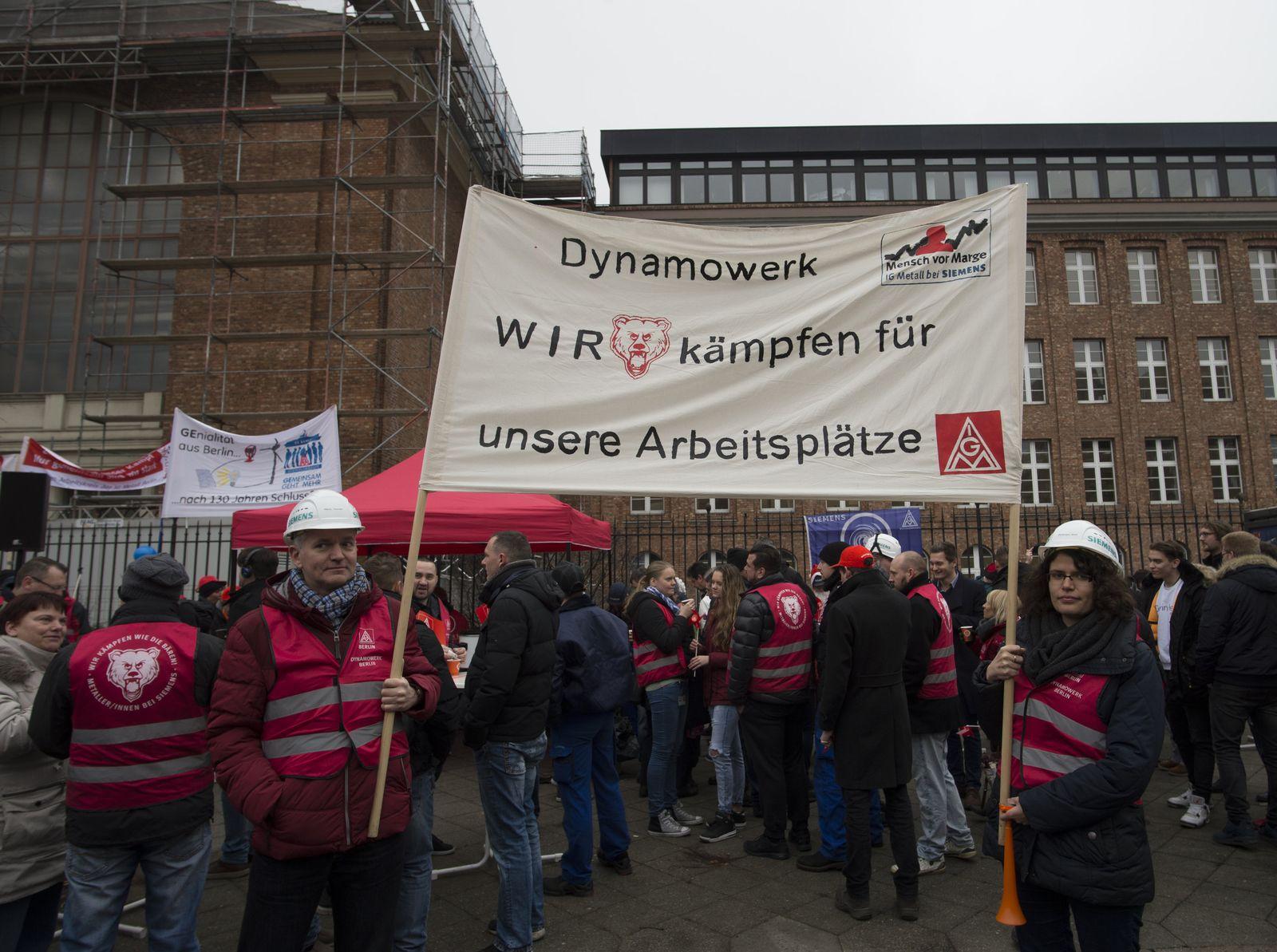 Kundgebung der Siemens-Beschäftigten