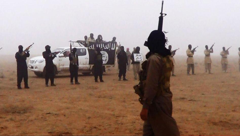 """Militante im Irak (undatiertes Foto): """"Land und seine Bürger gemäß der von Allah festgelegten Regeln regieren"""""""