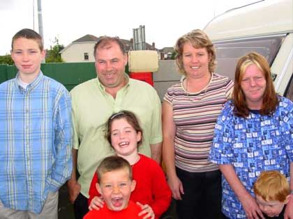 Thomas Rattigan mit seiner Familie