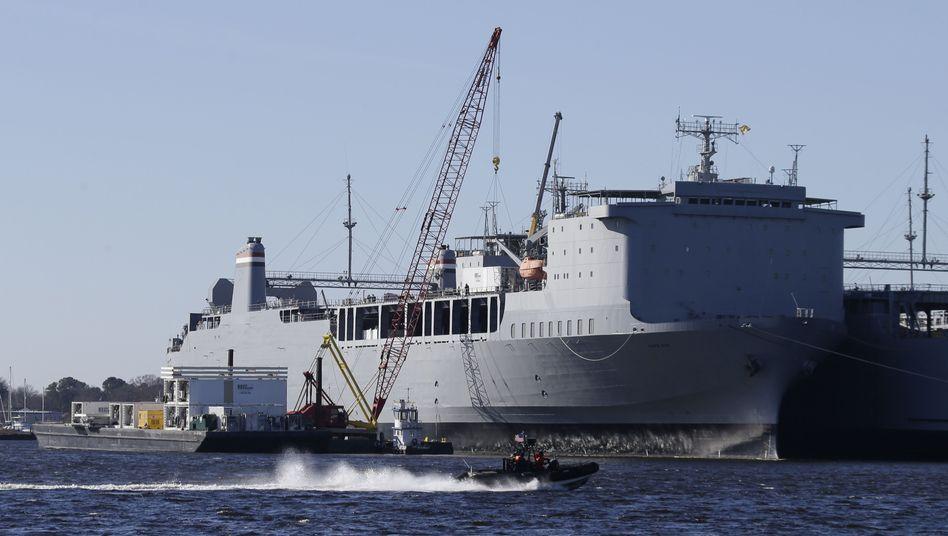 """US-Marinefrachter MV """"Cape Ray"""": Zerstörung von Chemiewaffen auf dem Meer"""