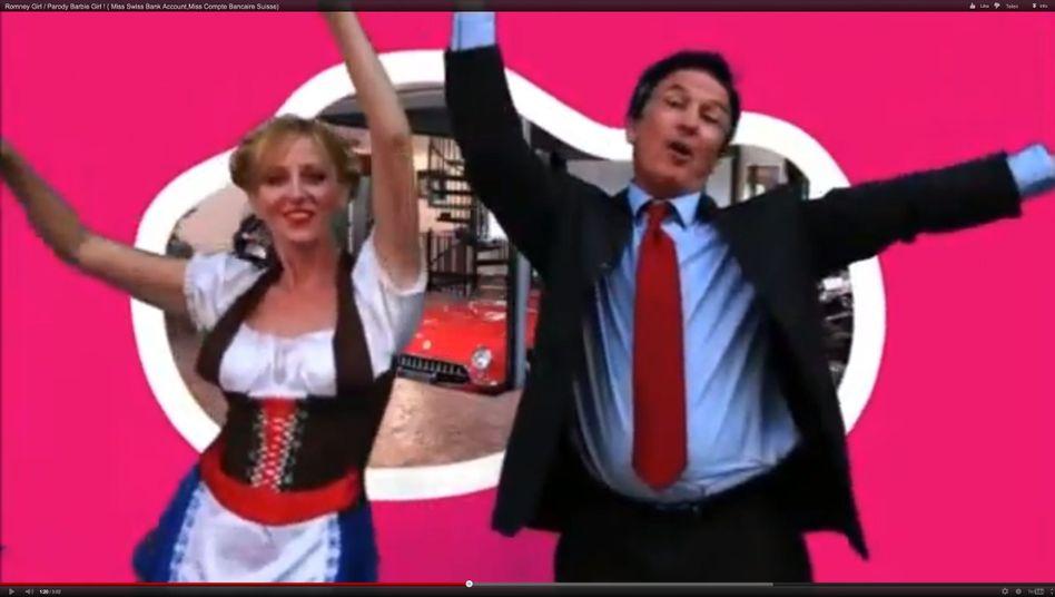 """Screenshot aus """"Romney Girl""""- Parodie: Verstimmungen in der Schweiz"""