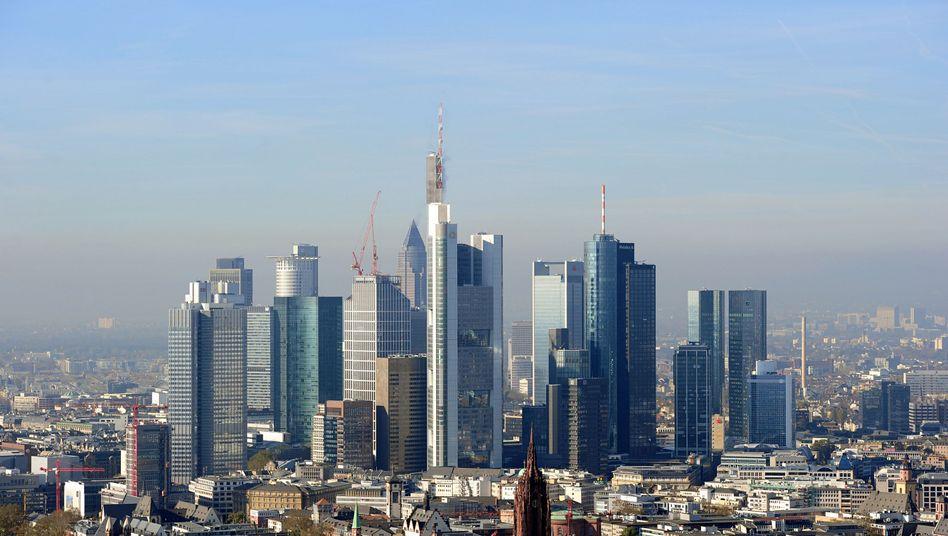 Frankfurt's banking skyline.