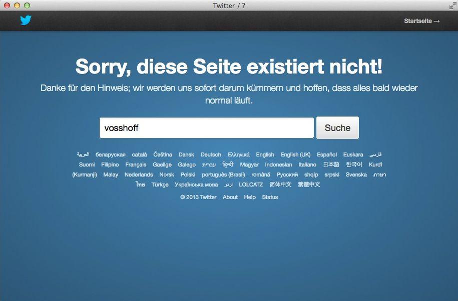 NUR ALS ZITAT Screenshot Twitter/ Vosshoff