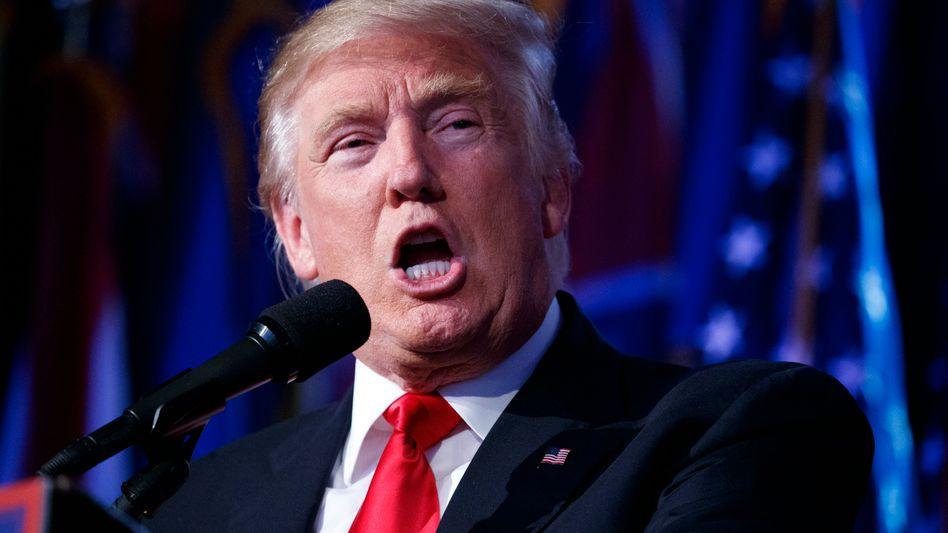 Donald Trump auf seiner Wahlparty in New York