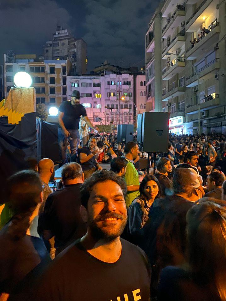 Demonstrant Mouin Jaber: Plötzlich politisch