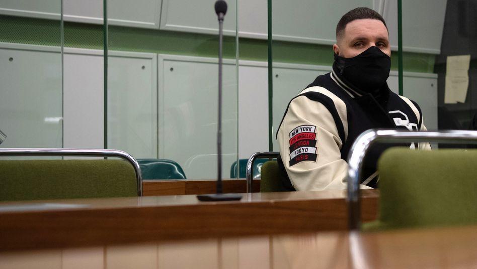 Rapper Fler Mitte Januar, als er noch zu den Gerichtsterminen erschien