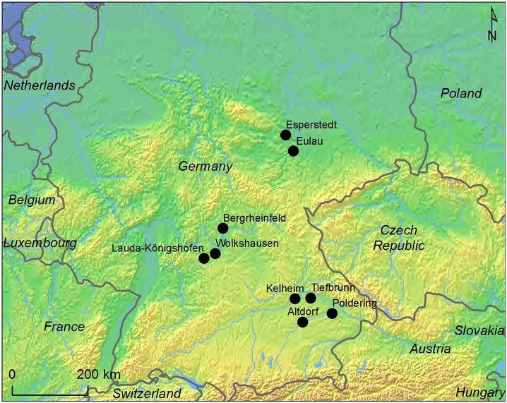 Ausgrabungsstätten in Süddeutschland