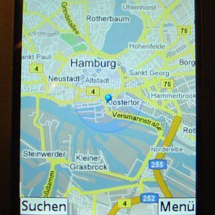 Google Maps für Handys: Positionsbestimmung von SPIEGEL ONLINE nur auf 1700 Meter genau