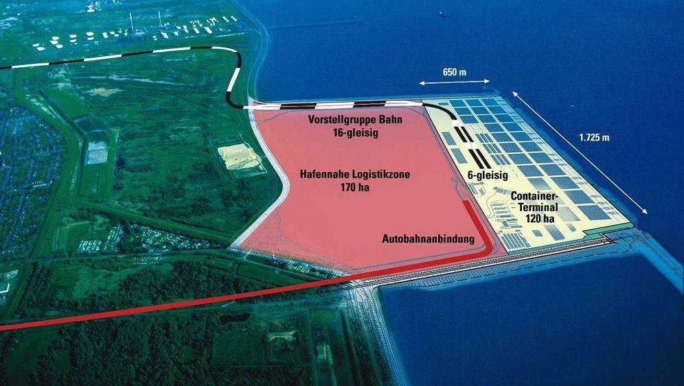 Fotostrecke: Der Tiefwasserhafen Jade-Weser-Port