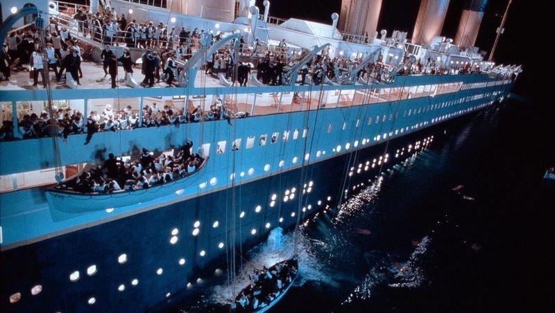 "Szene aus dem Film ""Titanic"""