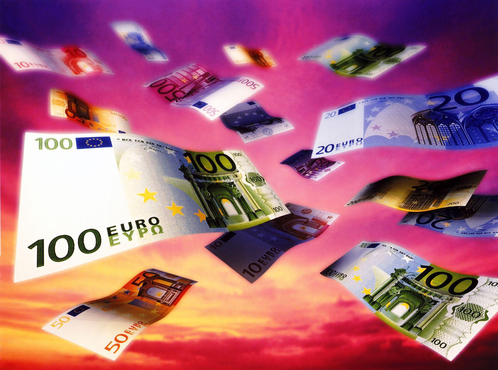 NICHT MEHR VERWENDEN! - Euro-Scheine fallen / Euro-Regen / Geldregen
