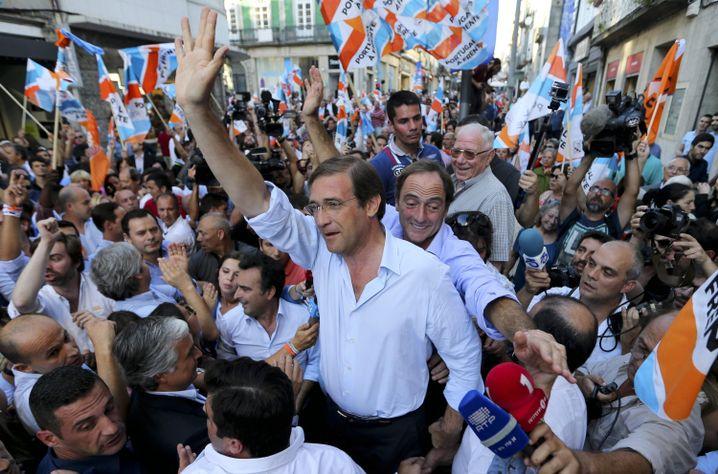 Premier Passos Coelho: Hoffen auf einen Wahlerfolg