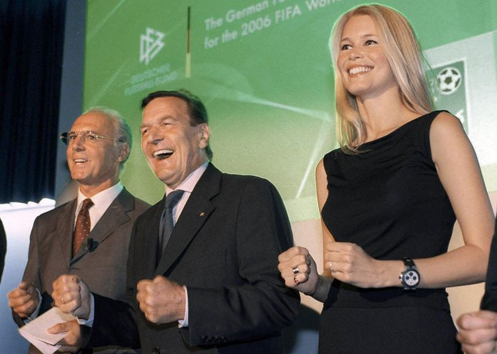 WM-Werber Beckenbauer, Schröder, Schiffer 2000