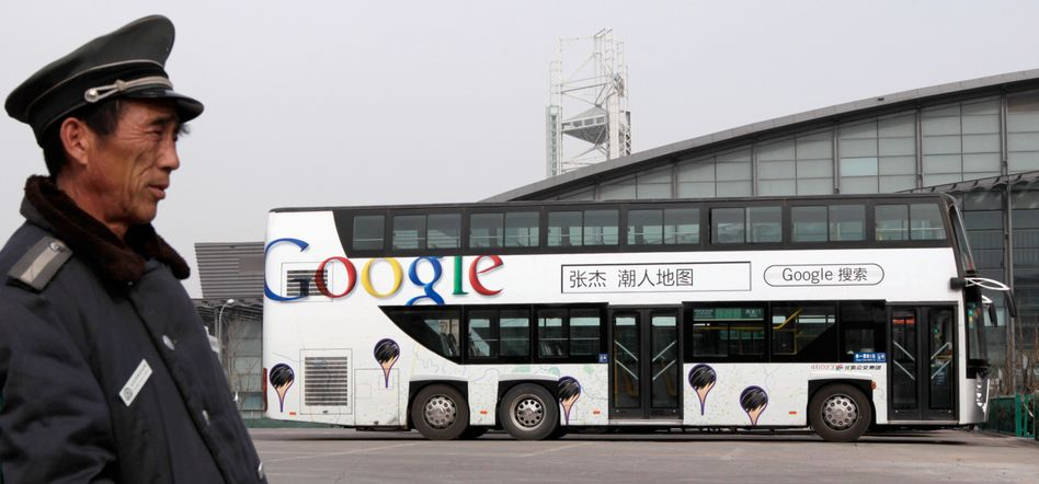 Chinesischer Polizist, Google-Werbung: Ausweichmanöver nach Hongkong