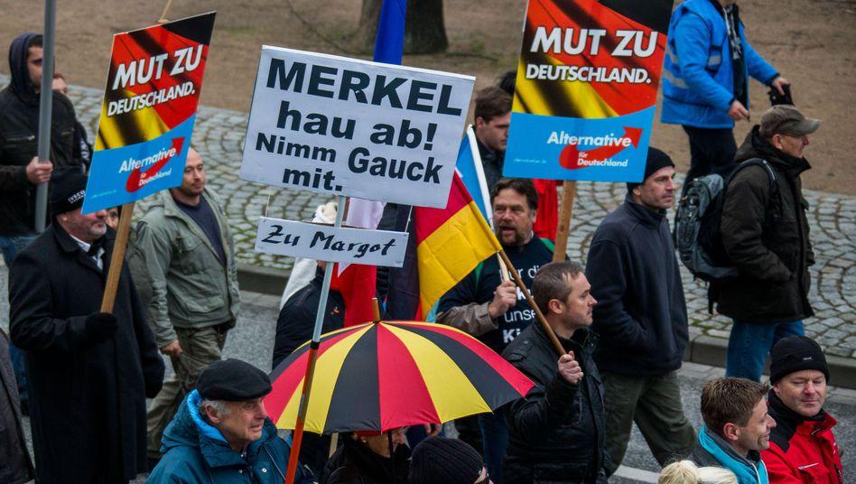 AfD-Demo in Schwerin