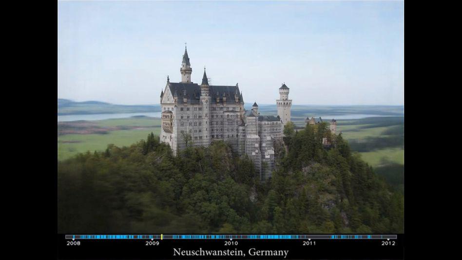 Schloss Neuschwanstein: Baumaßnahme im Zeitraffer