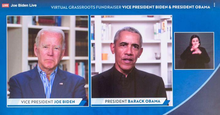 Machen einen Termin - und nehmen dabei elf Millionen Dollar ein: Joe Biden und Barack Obama