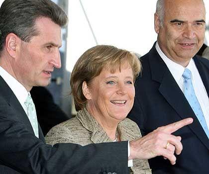 """Angela Merkel zu Besuch bei Günther Oettinger: """"Die Tulpen blühen so schön"""""""