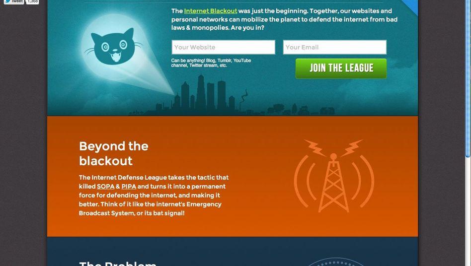 Internet Defense League: Der Internet-Blackout soll nur der Anfang gewesen sein