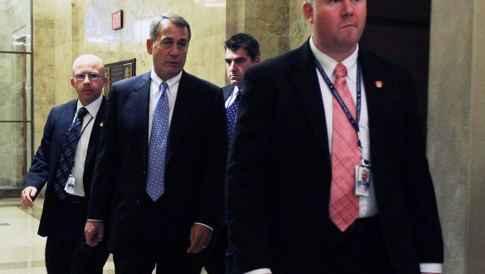 About 74 percent of the Tea Party Patriots in the US want Republican Speaker of the House John Boehner (center) to go.