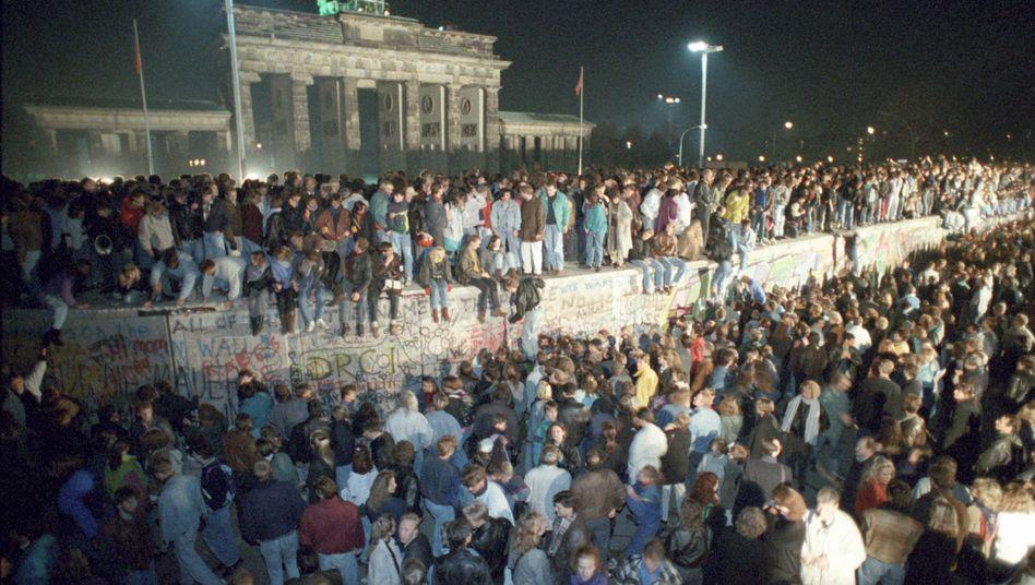Mauerfall in der Nacht vom 9. auf den 10. November 1989