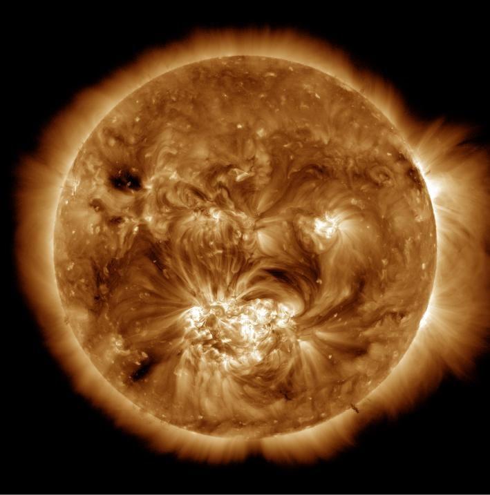 EINMALIGE VERWENDUNG Sonnenkorona / NASA / WISSENSCHAFT