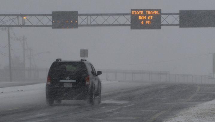Schneesturm Nemo: Ausnahmezustand an der US-Ostküste