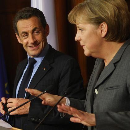 Streit beendet: Frankreichs Präsident Sarkozy und Bundeskanzlerin Merkel