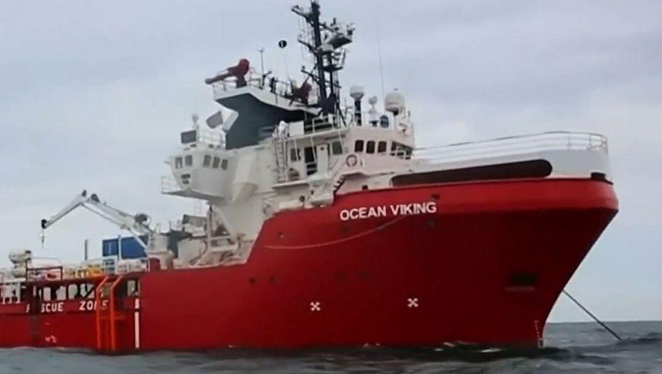 """Rettungsschiff """"Ocean Viking"""" (Archivbild aus dem Juli)"""