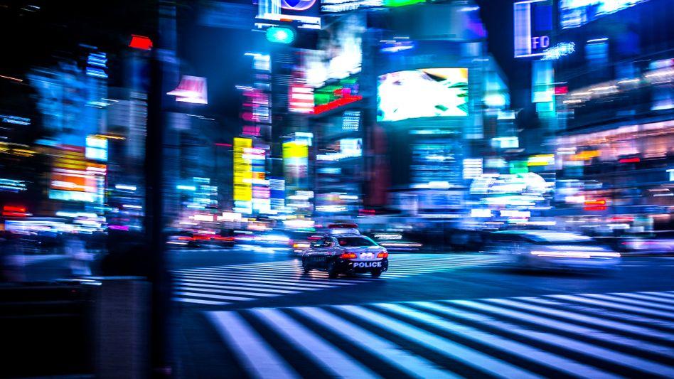 Polizei auf den Straßen von Tokio