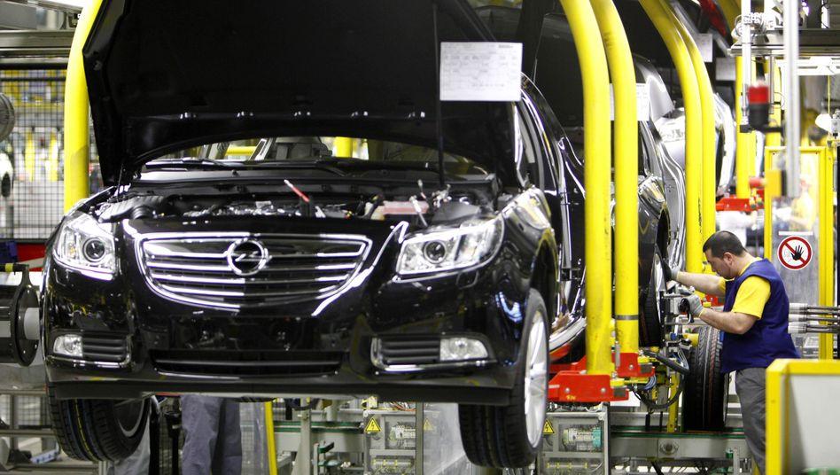 Opel-Produktion in Rüsselsheim: Belastung für die Konzernmutter