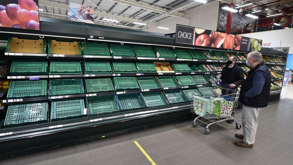 Tesco-Supermarkt in Belfast: Immer weniger in den Regalen